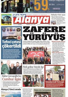 Haber Alanya - 20.03.2019 Manşeti
