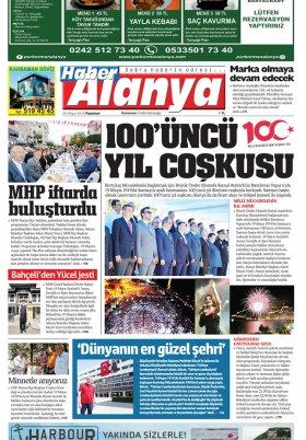 Haber Alanya - 20.05.2019 Manşeti