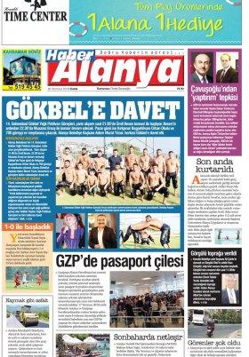 Haber Alanya - 20.07.2018 Manşeti