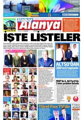Haber Alanya - 20.02.2019 Manşeti
