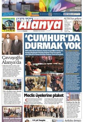 Haber Alanya - 21.03.2019 Manşeti