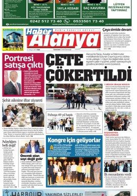 Haber Alanya - 21.05.2019 Manşeti