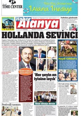 Haber Alanya - 21.07.2018 Manşeti