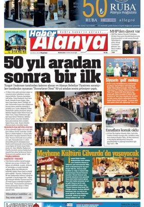 Haber Alanya - 22.10.2018 Manşeti