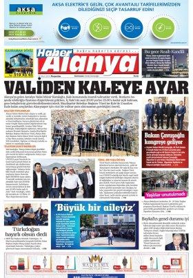 Haber Alanya - 22.03.2018 Manşeti
