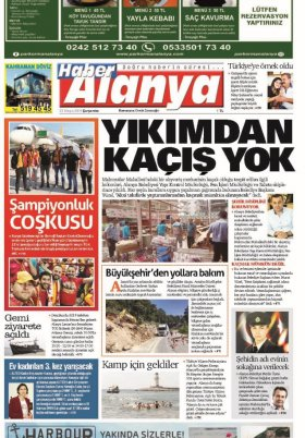 Haber Alanya - 22.05.2019 Manşeti
