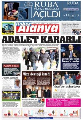 Haber Alanya - 23.03.2018 Manşeti