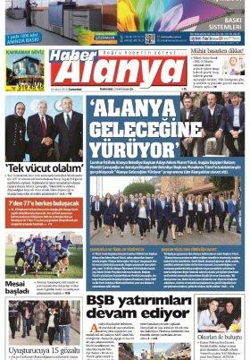 Haber Alanya - 23.03.2019 Manşeti