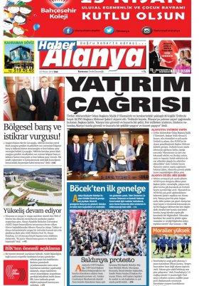 Haber Alanya - 23.04.2019 Manşeti
