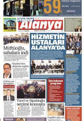 Haber Alanya - 23.02.2019 Manşeti