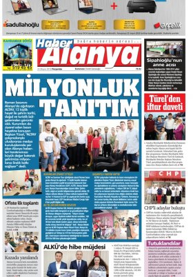Haber Alanya - 24.05.2018 Manşeti