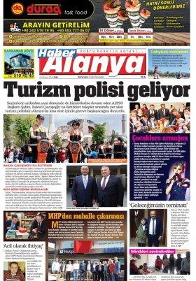 Haber Alanya - 24.04.2018 Manşeti