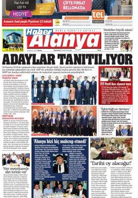 Haber Alanya - 25.05.2018 Manşeti