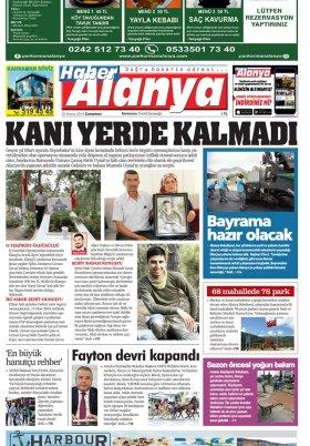 Haber Alanya - 25.05.2019 Manşeti