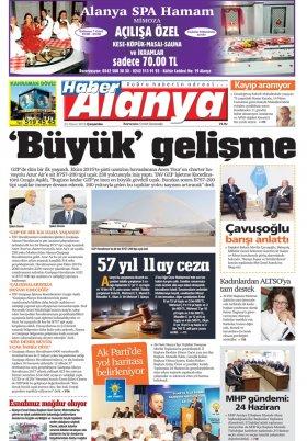 Haber Alanya - 25.04.2018 Manşeti