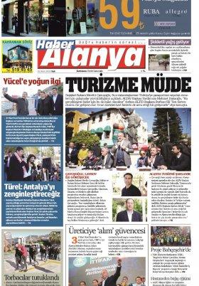 Haber Alanya - 26.03.2019 Manşeti
