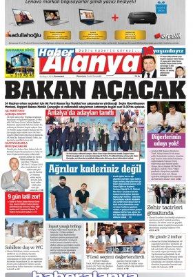 Haber Alanya - 26.05.2018 Manşeti