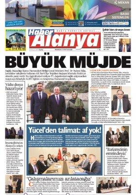 Haber Alanya - 26.04.2019 Manşeti