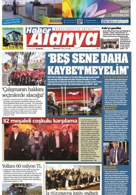 Haber Alanya - 27.03.2019 Manşeti