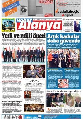 Haber Alanya - 04.11.2018 Manşeti