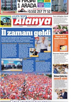 Haber Alanya - 18.06.2018 Manşeti