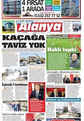 Haber Alanya - 26.04.2018 Manşeti