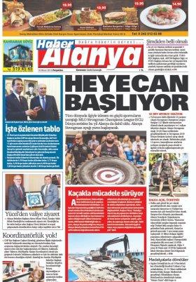 Haber Alanya - 18.04.2019 Manşeti