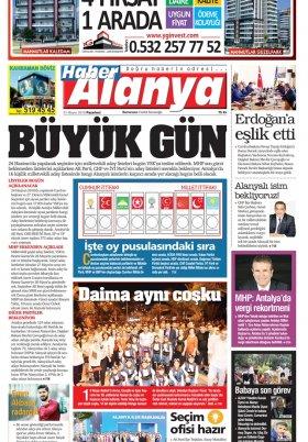 Haber Alanya - 21.05.2018 Manşeti