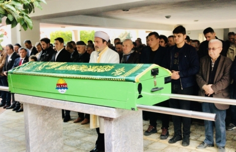 Başkan Şahin'in eniştesi son yolculuğuna uğurlandı