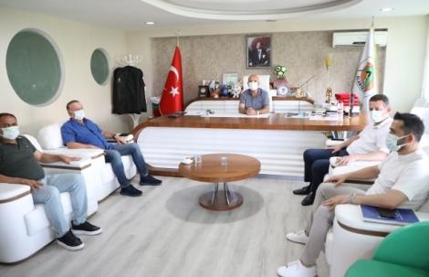 Kaymakam Ürkmezer'den Alanyaspor'a ziyaret